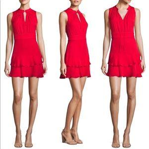 Parker Red Silk Matilda Dress